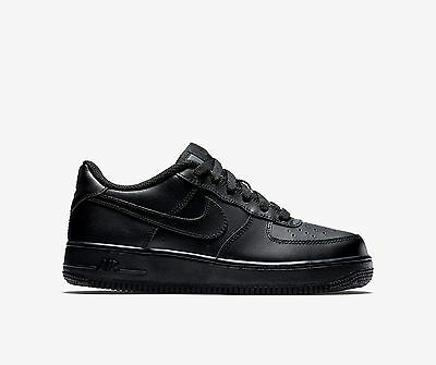 New Nike Youth Air Force 1 Low GS Shoes (314192-009)  Black/Black