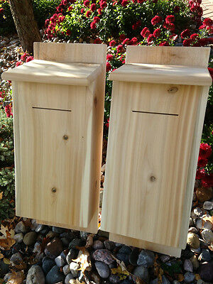 Bat Houses,  White Cedar ( 2 pack )