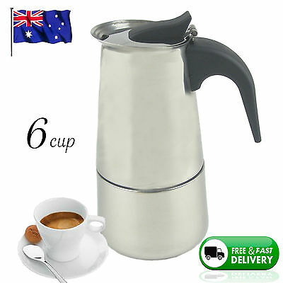 NEW 6 CUP ESPRESSO MAKER Coffee Stainless Steel Percolator Perculator Stove Top
