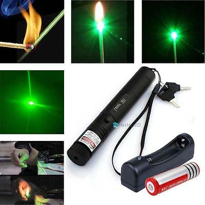 5mw Green Laser Pointer Pen G301 Lazer Visible Beam 532nm+18650 Battery+ Charger