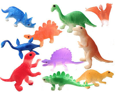 Dinosaurs Toy Animals 24 Jurassic Figures Kids Game Play Set T-Rex TRex Plastic