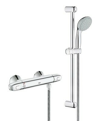 Grohe 34557000 Grohtherm 1000 Theromostatic Mixer Shower + Hose, Head + Riser