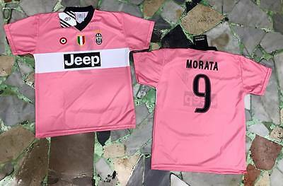 15baa95f62 maglia juventus ufficiale MORATA 9 2015/2016 official JERSEY juve AWAY ROSA  PINK