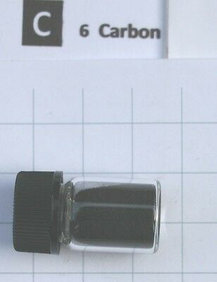 1 gram 99.5% C60 Carbon fullerene in glass vial element 6 sample