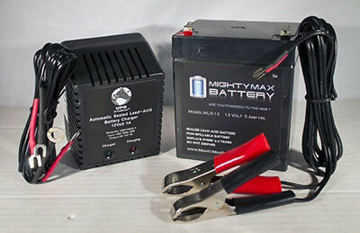 Mighty Max 12V 7.2AH Battery Replaces Viking X-9 Swing Gate 12V 1Amp Charger