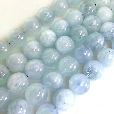 Natural  Aquamarine Round Beads 4,6,8,10mm Pick your size