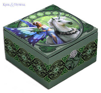 "Anne Stokes Trinket Jewellery Box with Mirror: ""Realm of Enchantment"" Fairy"