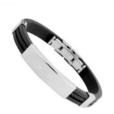 Unisex Men's Genuine Braided Leather Stainless Steel Magnetic Clasp Bracelet