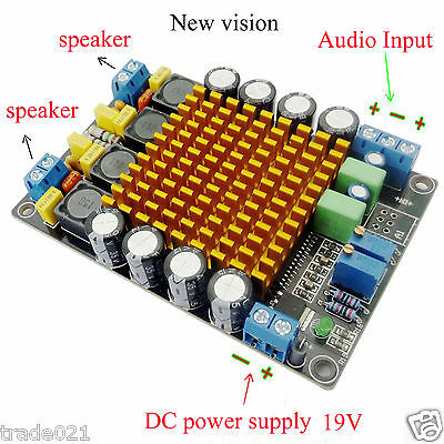 TK2050 50W+50W Dual Channel Class T HIFI Stereo Audio Amplifier Board DC12V 24V