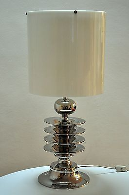 Chrom Tischleuchte Bodenleuchte Art Deco 60th Design tablelight exclusive