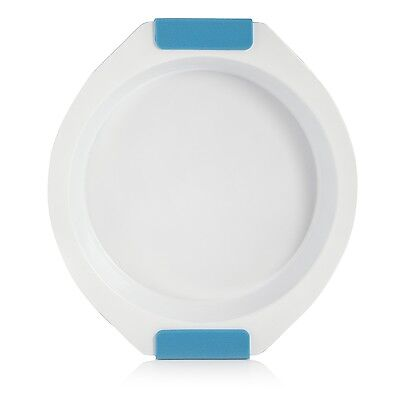Cook Incolour Mck30001 Round Pie Deep Dish Pan Plate Tin Baking Silicone Blue