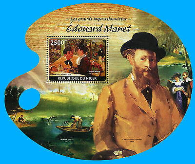 Niger Stamp, 2014 INT1454S Art, Painting, Edouard Manet, Impressionist