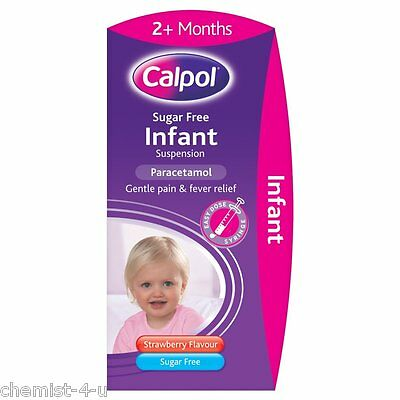 Calpol Infant Sugar Free 120 mg/5 ml Oral Suspension For Pain Relief 100ml