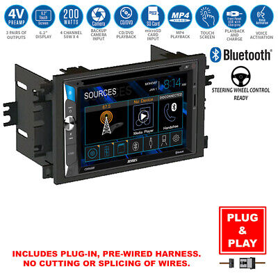 Double DIN TouchScreen USB Bluetooth Radio CD Player+Chevy Car Stereo Dash Kit
