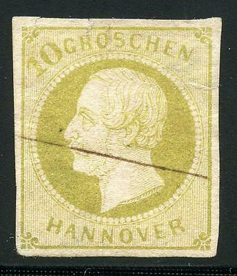 Germany States Hanover Scott# 24 Michel# 18 Used  Line Cancel As Shown