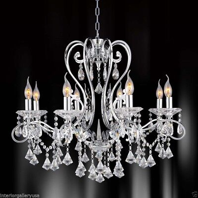 new concept 2a0f0 7ea54 K9 CRYSTAL CHANDELIER - 8 Light Crystal Chandelier - Polished Chrome -  Rochelle