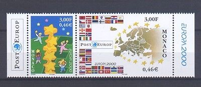 MONACO, EUROPA CEPT 2000 with MARGINS, MNH