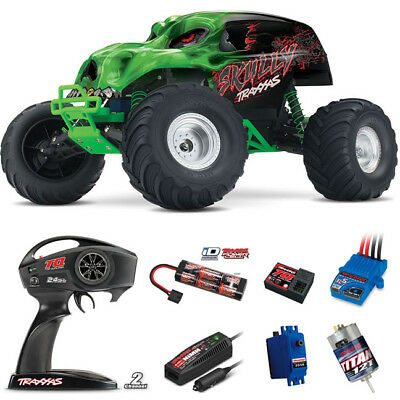 Traxxas 1/10 Skully 2WD Monster Truck RTR Green w/ Radio / iD Battery / Charger