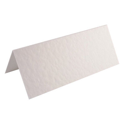 100 Hammered White Wedding Table Place Name Cards Blank