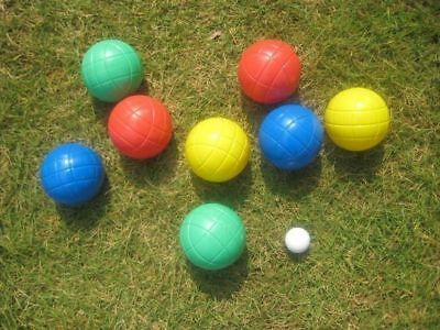 2 x Bocce ball set 8 balls with carry case 4 colours