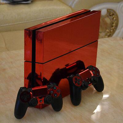 Beautiful Red For PlayStation4 PS4 Console+Controllers Skin Sticker Decal Cover