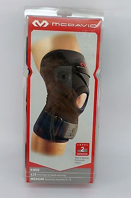 McDavid 425 Level 2 Knee Support w/Stays & Cross Straps 100% Authentic New 425 +
