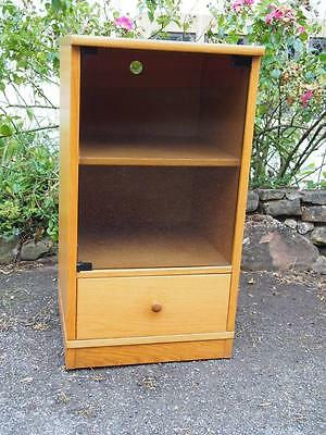 Lovely and Stylish Glass Fronted Cabinet Unit of Small Proportions with Drawer