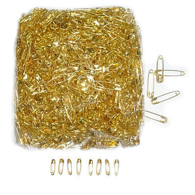 GOLD Safety Pins 200pcs 18mm Clasp Pin Secure Vintage Craft Sewing Dress Making