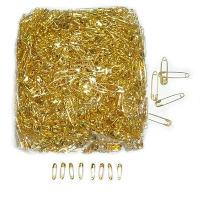 GOLD Safety Pins 200pcs 18mm Gold colour Small Clips Craft Sewing Dress Making