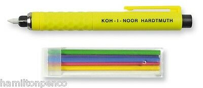 KOH-I-NOOR S128 CLUTCH PENCIL with tailor's chalks - 6 colours included!