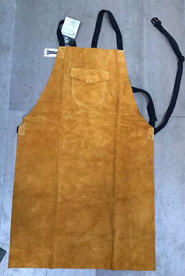 Leather Welding Apron Portwest Welders Work Safety Workwear Glaziers Blacksmith