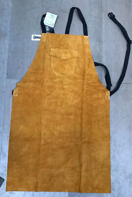 Portwest Bizweld Cowhide Leather Welders Apron Kevlar Stitched Welding SW10