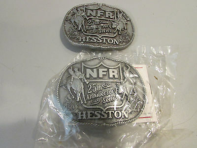 Vintage Hesston National Finals Rodeo Belt Buckle 25th Anniversary Series 1983