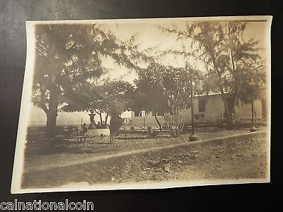 House near Canal Zone, Panama Antique Real Photograph