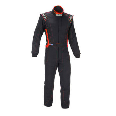 Sparco Victory RS-4 Racing Suit, SFI 3.2A/5, One Piece, Black/Grey, Extra Large