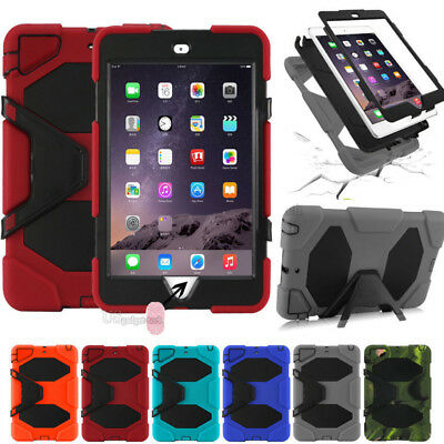 """Waterproof""Case For iPad 2/3/4 Mini 123 air 1/2 Pro Shockproof Heavy Duty Stand"