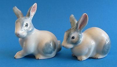 White with Blue/Grey Colour -  Rabbit Ceramic Salt & Pepper Shakers