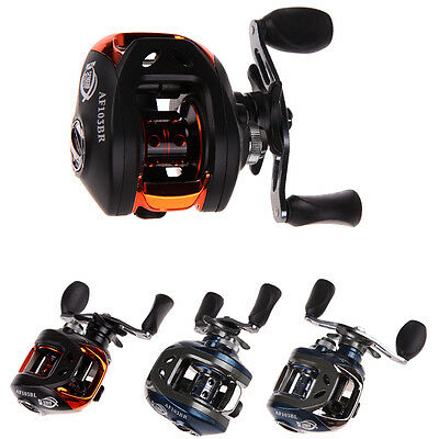 10+1BB 6.3:1 Ball Bearings Left/Right Hand Baitcasting Fishing Reel 2 Colors