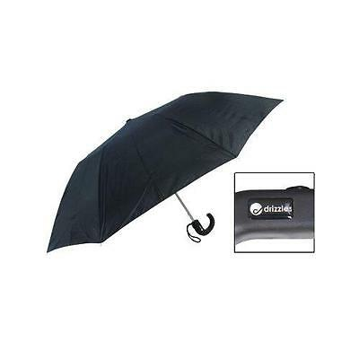 KS Brands UU0104 190T Mens Two Section Automatic Opening Umbrella In Black - New