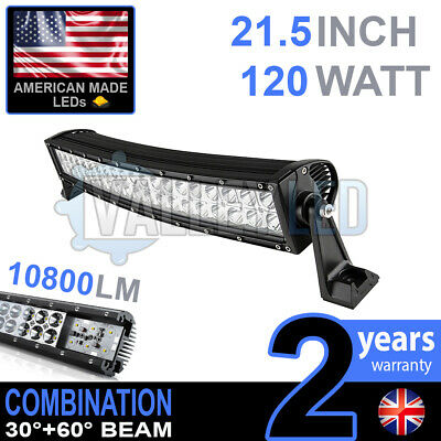 "20"" 120w Curved Cree LED Light Bar Combo IP68 Driving Light Off Road 4x4 Boat"