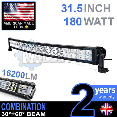 "30"" 180w Curved Cree LED Light Bar Combo IP68 Driving Light Off Road 4WD Boat"