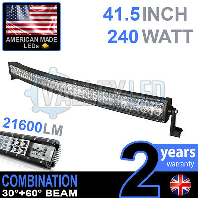 "40"" 240w Curved Cree LED Light Bar Combo IP68 Driving Light Off Road 4WD Boat"