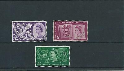 GB COMMEMS - 1958 - COMMONWEALTH GAMES - CARDIFF - complete set - FINE  USED