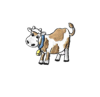 Cow - Farm - Dairy - Farming - Animal - Embroidered Iron On Applique Patch