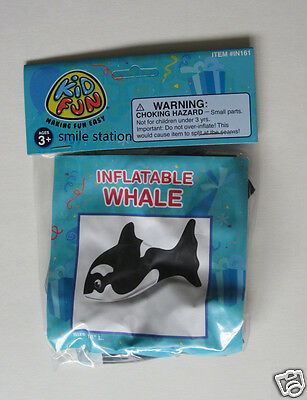 """1 Inflatable 17"""" Killer Whale Orca Blow Up Sea Party Decoration Favor Supply"""