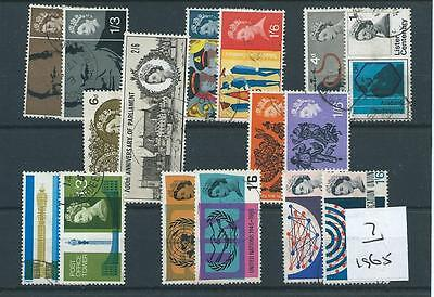 GB COMMEMS - 1965 - eight complete sets - FINE  USED