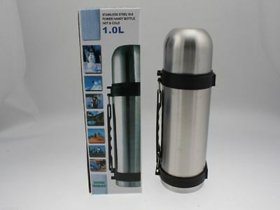 12 x Travel flask thermos  bottle stainless steel 1 litre  bulk wholesale lot