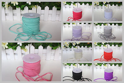 "Skinny Elastic Band Trim 1/8"" 3mm Width DIY for Baby Headband Clothes Craft New"