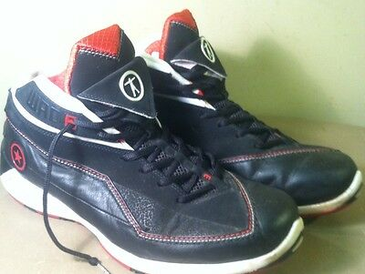 5dd8116f8d26 Converse Dwayne Wade Red Black White Mid Leather Basketball Shoes Men s sz  12