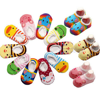 Cute Unisex Baby Kids Toddler Girl Boy Anti-Slip Socks Shoes Slipper 6-24 Months